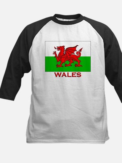 Wales Flag Gear Kids Baseball Jersey