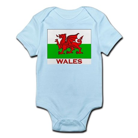 Wales Flag Gear Infant Creeper