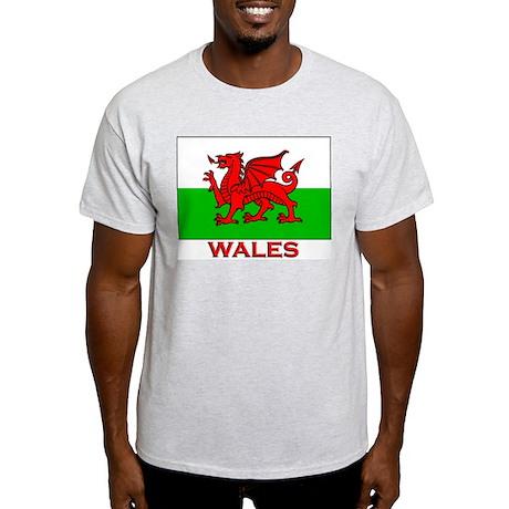 Wales Flag Gear Ash Grey T-Shirt