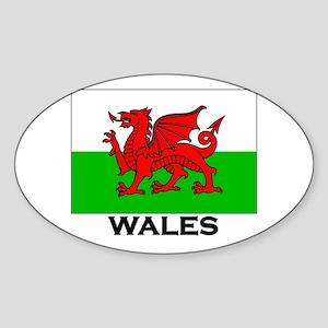 Wales Flag Merchandise Oval Sticker