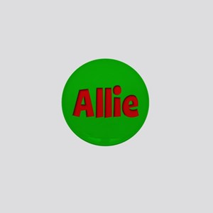 Allie Green and Red Mini Button