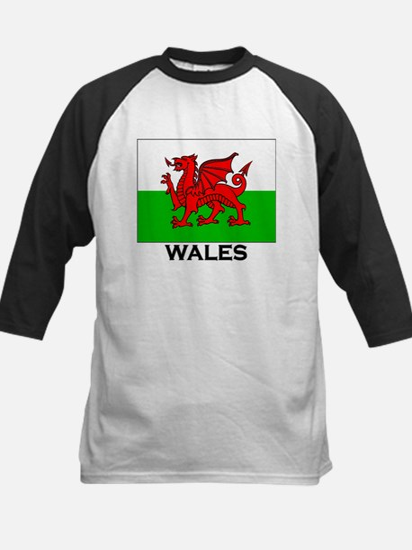 Wales Flag Merchandise Kids Baseball Jersey
