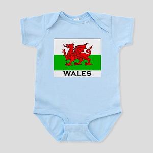 Wales Flag Merchandise Infant Creeper