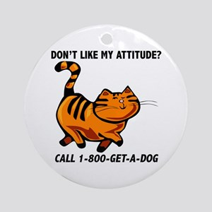1-800-GET-A-DOG Ornament (Round)