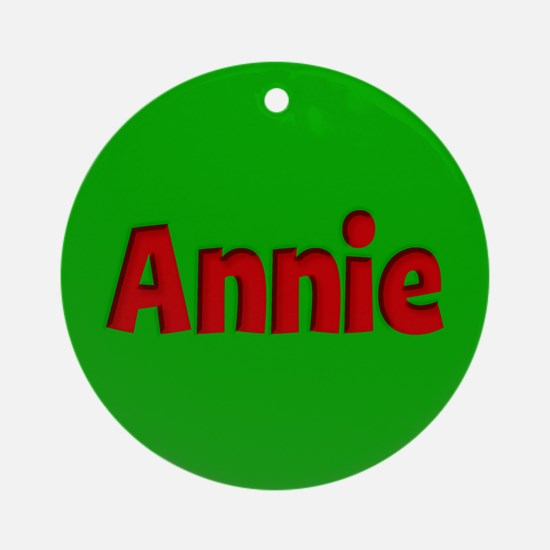 Annie Green and Red Ornament (Round)