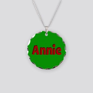 Annie Green and Red Necklace Circle Charm