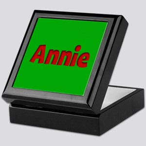 Annie Green and Red Keepsake Box