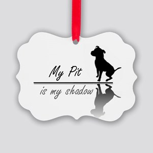 My Pit is my shadow Picture Ornament