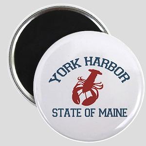 York Harbor ME - Lobster Design. Magnet