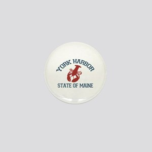 York Harbor ME - Lobster Design. Mini Button