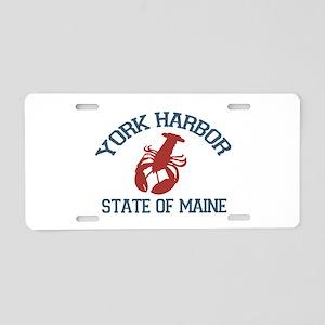 York Harbor ME - Lobster Design. Aluminum License