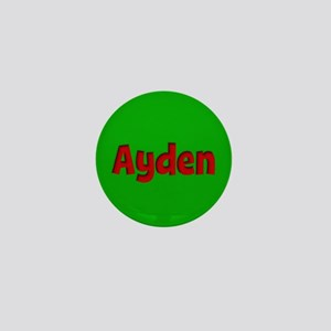 Ayden Green and Red Mini Button