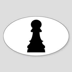 Chess pawn Sticker (Oval)