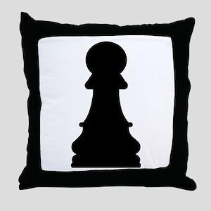 Chess pawn Throw Pillow