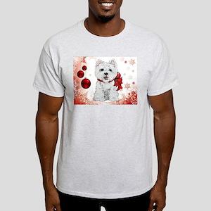 Westie Red Christmas Light T-Shirt