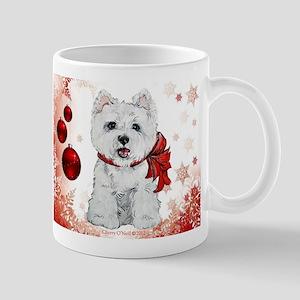 Westie Red Christmas Mug