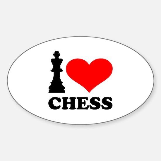 I love chess Sticker (Oval)