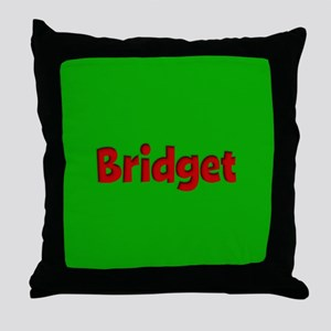 Bridget Green and Red Throw Pillow
