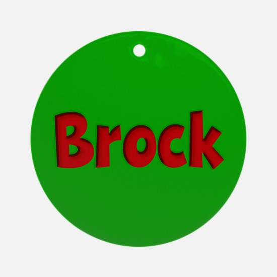 Brock Green and Red Ornament (Round)