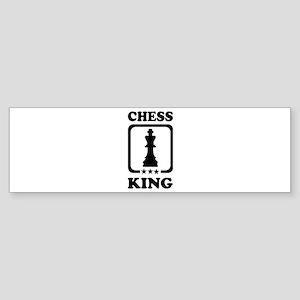 Chess king Sticker (Bumper)