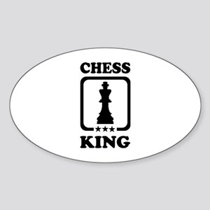Chess king Sticker (Oval)