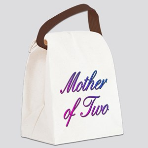 Mother of Two Canvas Lunch Bag