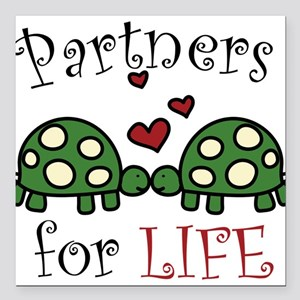 "Partners For Life Square Car Magnet 3"" x 3"""