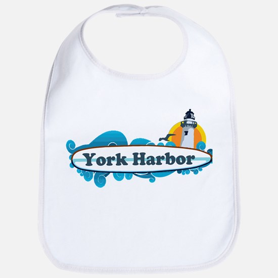 York Harbor ME - Surf Design. Bib
