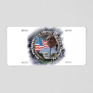 Obama Inauguration 01.21.13: Aluminum License Plat