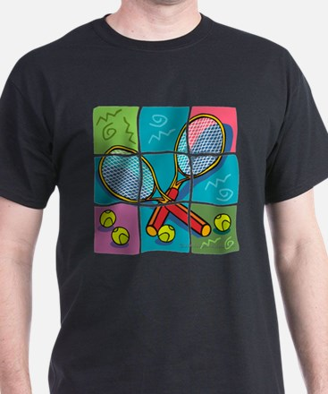 Tennis Fun Black T-Shirt