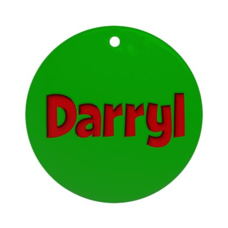 Darryl Green and Red Ornament (Round)