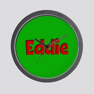 Eddie Green and Red Wall Clock