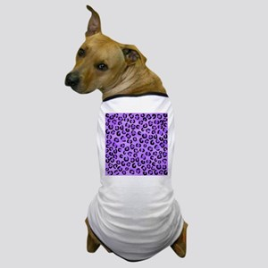 Purple Leopard Print. Dog T-Shirt
