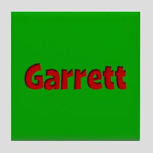 Garrett Green and Red Tile Coaster