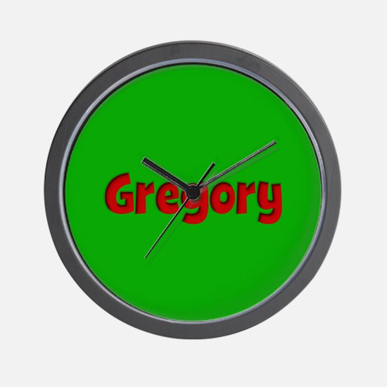 Gregory Green and Red Wall Clock