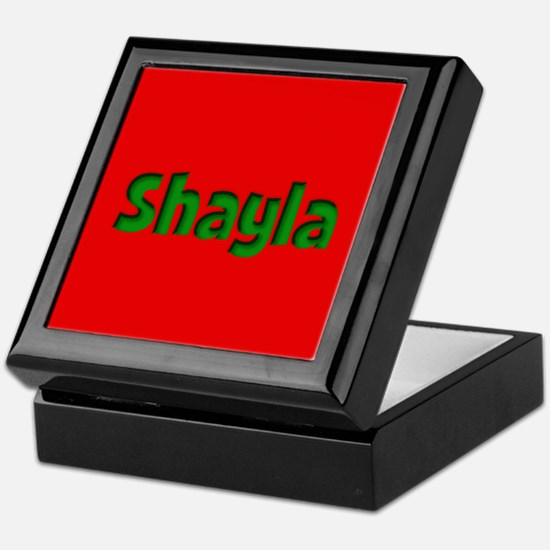 Shayla Red and Green Keepsake Box