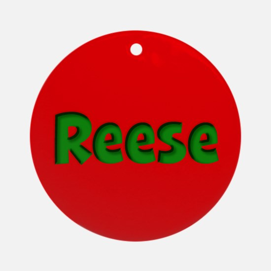 Reese Red and Green Ornament (Round)