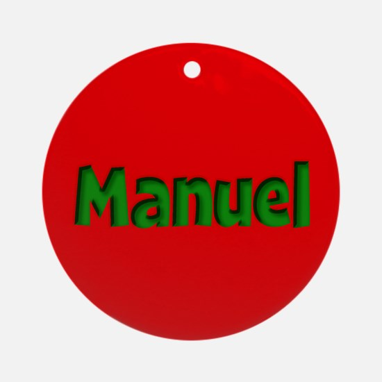 Manuel Red and Green Ornament (Round)