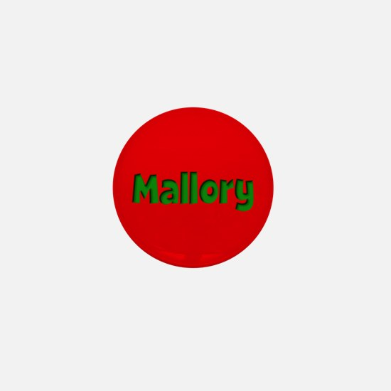 Mallory Red and Green Mini Button