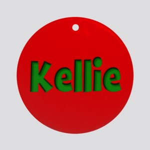 Kellie Red and Green Ornament (Round)