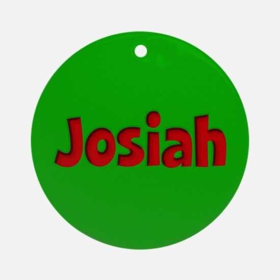 Josiah Green and Red Ornament (Round)