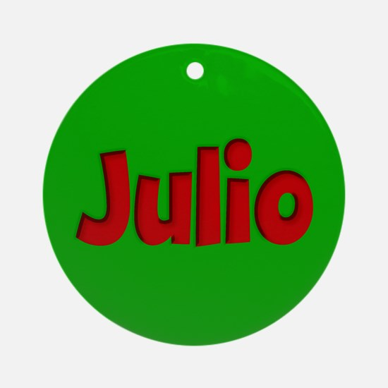 Julio Green and Red Ornament (Round)