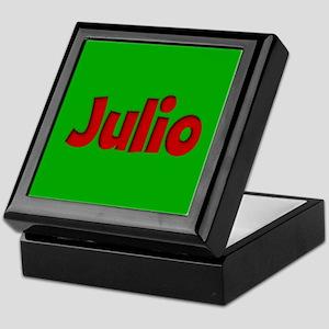 Julio Green and Red Keepsake Box