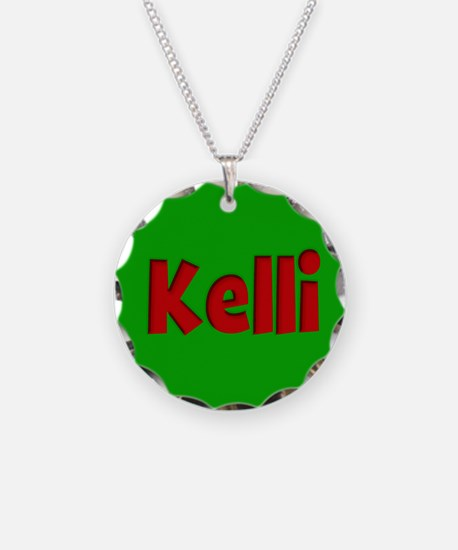 Kelli Green and Red Necklace