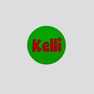 Kelli Green and Red Mini Button