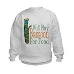 (CP) Will Play Bassoon lt Kids Sweatshirt