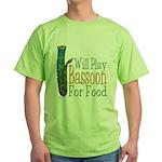(CP) Will Play Bassoon lt Green T-Shirt