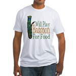 (CP) Will Play Bassoon lt Fitted T-Shirt