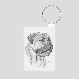 Mastiff Aluminum Photo Keychain