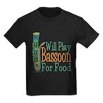 (CP) Will Play Bassoon dk Kids Dark T-Shirt